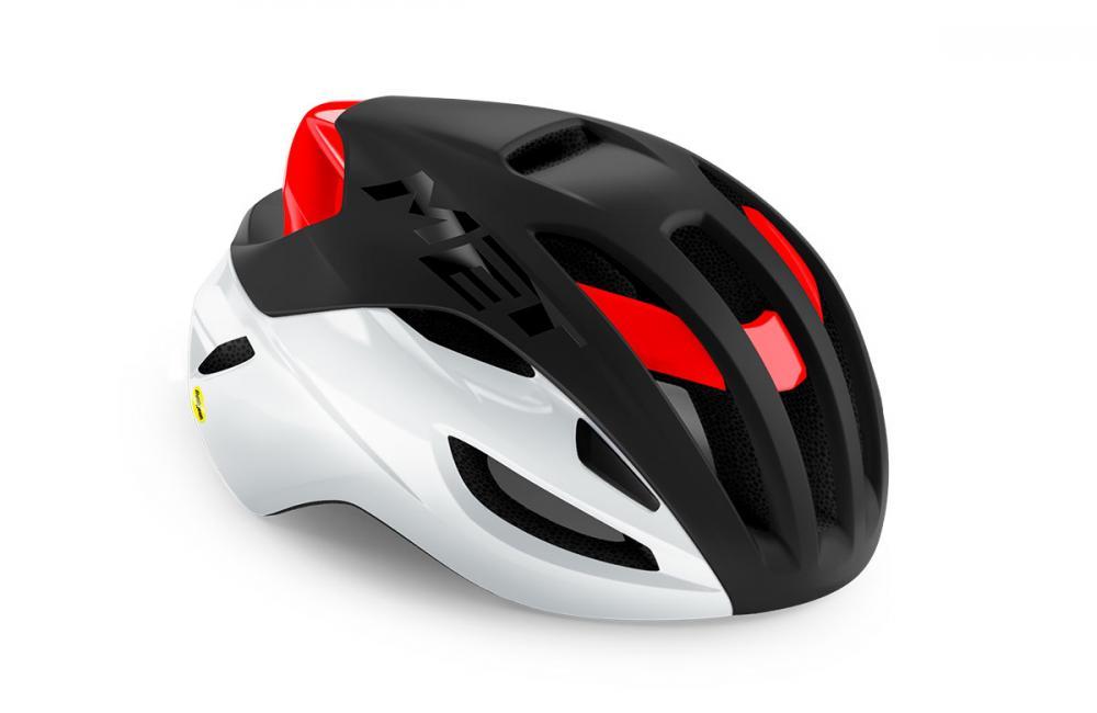 Mũ Met Rivale Mips (Đen đỏ trắng)